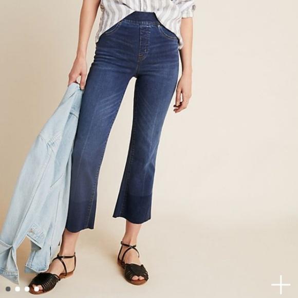 a891ed02954e3f SPANX Cropped Flare Jeans Jean-ish Denim leggings.  M_5cb8fb89bb22e3df81c43205